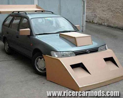 cardboard body kit