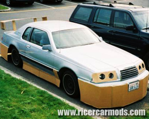 Cardboard bodykit and headlights