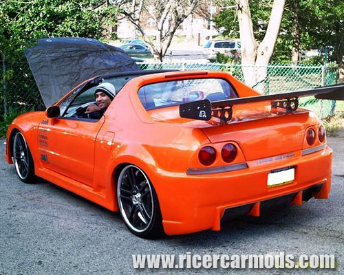 Riced Honda with r33 tail lights
